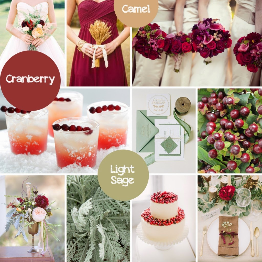 By Incorporating The Sage Color This Make Cranberry Work Well For A Fall Wedding Also Can Be Paired With Gold Closer To