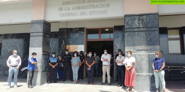 La Palma guarda un minuto de silencio en memoria de María Carolina