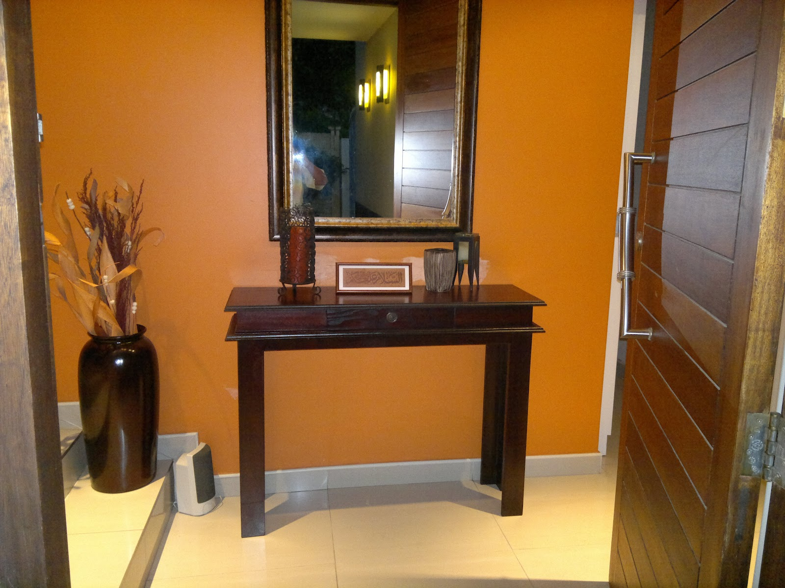 Custom Carpentry Entrance Hall Table With Drawer