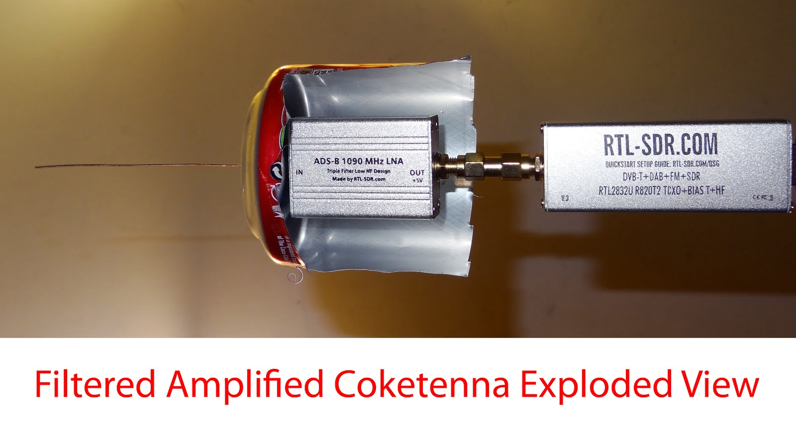 Radio for Everyone: Building a Filtered Amplified Coketenna