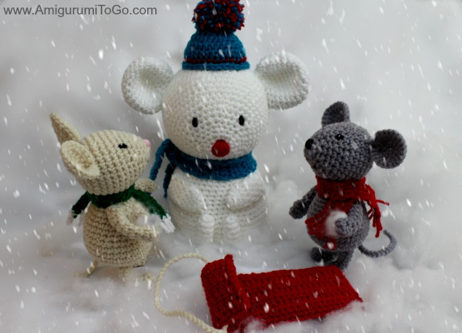 Snowman Built For A Mouse Amigurumi To Go