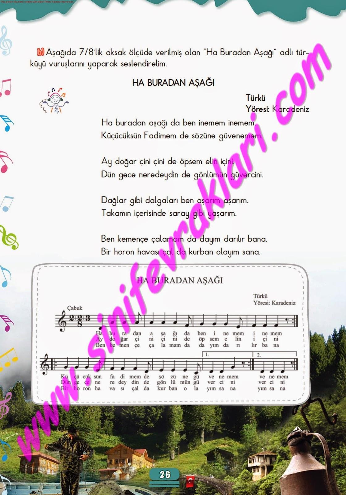 5sınıf Müzik çalışma Kitabı Cevapları Meb Yayınları Sayfa 26 Ders