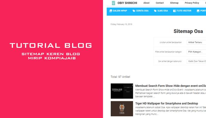Membuat Sitemap Blog Keren Ala AMP Kompiajaib