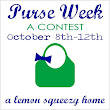 Purse Week @ A Lemon Squeezy Home