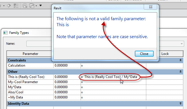 Revit OpEd: No Math Characters in Parameter Names