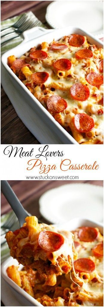 MEAT LOVERS PIZZA CASSEROLE #meatlovers #pizza #casserole #easyrecipes #pizzarecipes