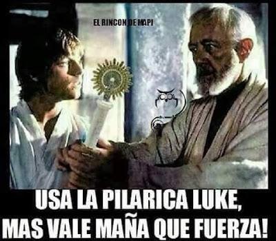Usa la Pilarica, Luke, más vale maña que fuerza