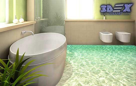 3d floors, 3d bathroom floor, 3d self-leveling floor, 3d flooring, 3d epoxy