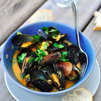mussels coconut curry RECIPE