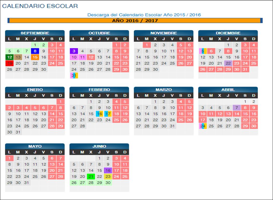 Calendario Escolar 2019 Aragon.Cra Portico