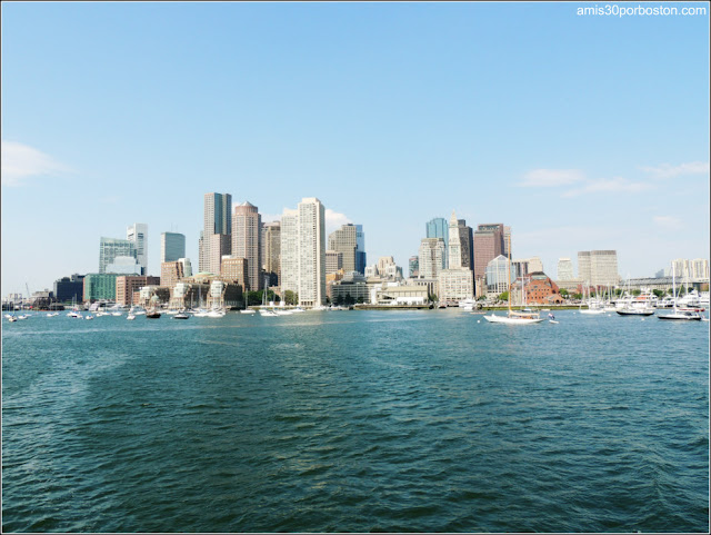 Boston Harbor Islands: Boston desde el Ferry