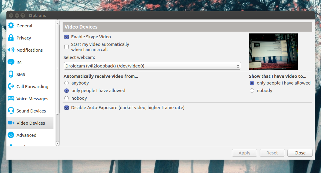 Install DroidCam (Wireless Android Webcam) Client In Ubuntu