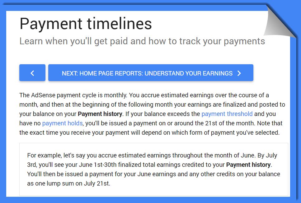 how to put a payment on adsense