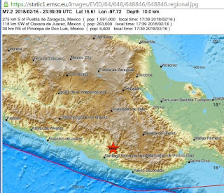 Strong earthquake hits Mexico