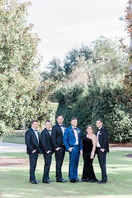groomsmen and best woman