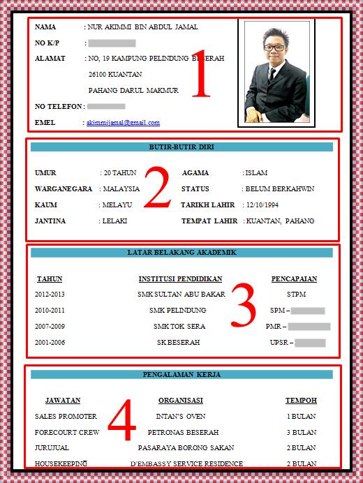resume bahasa melayu - Template - Template