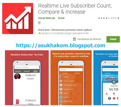 5 Aplikasi Untuk Melihat Live Subscriber Real Time Di Android