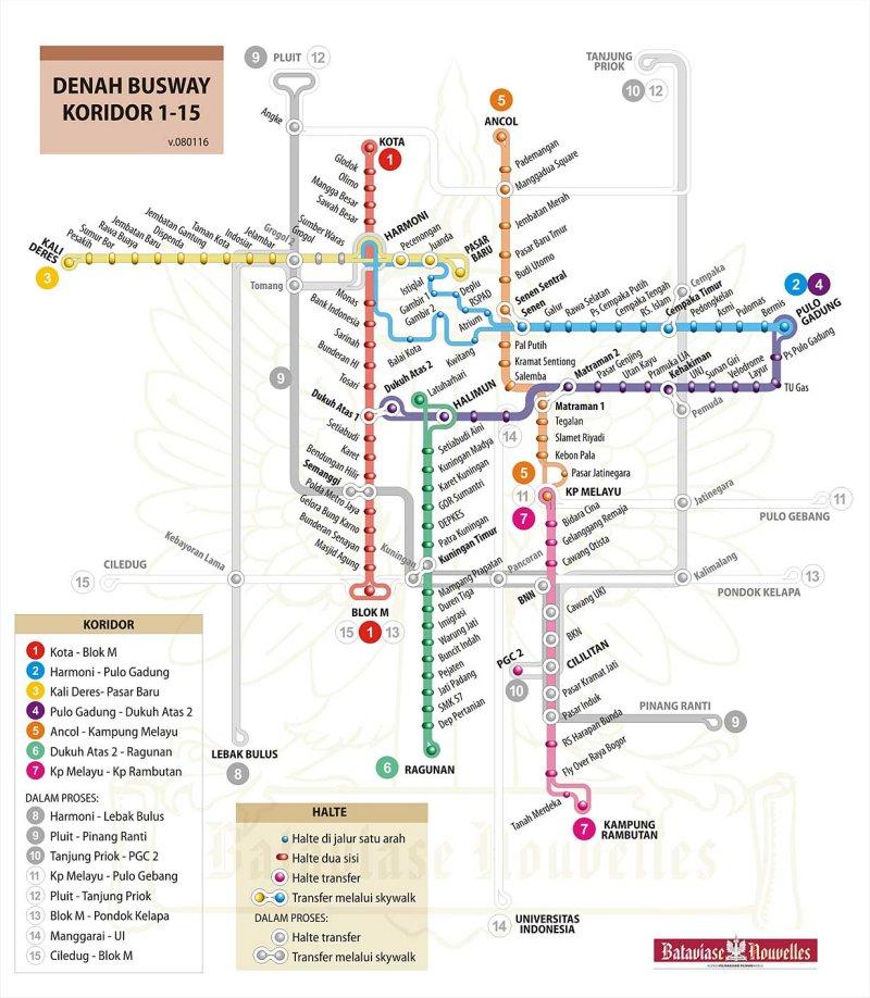 Rute Transjakarta Busway  Many Miles To Go