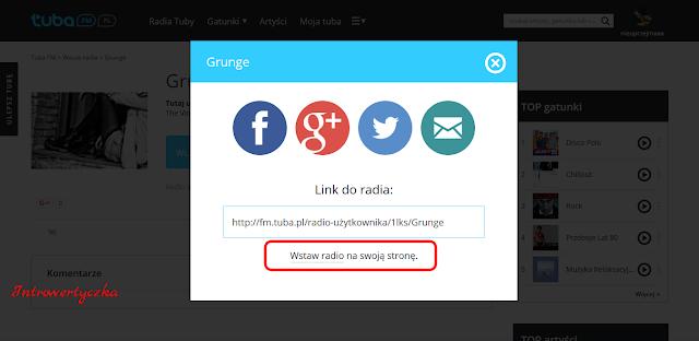 Widget - własne radio internetowe