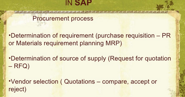 Material Purchase Procedure | Accounting Education