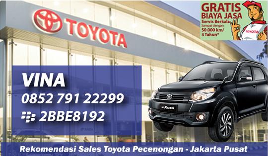 Rekomendasi Sales Tunas Toyota Pecenongan Jakarta Pusat Showroom : Jl. Pecenongan No.60-62 Jakarta 10120