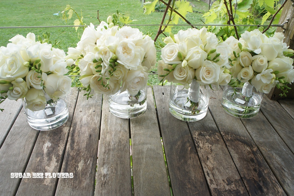 White Green Bouquets