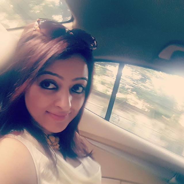 Rupsha Chakraborty In Car
