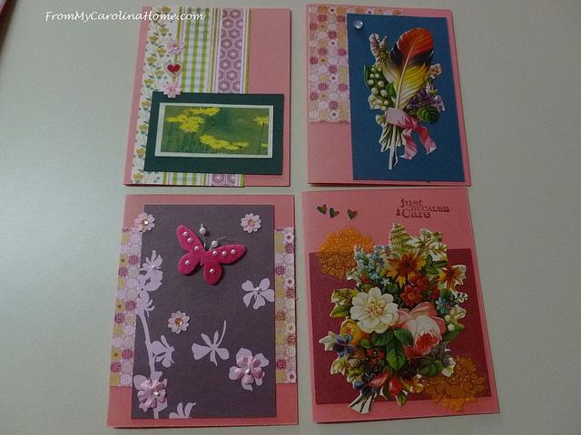 handmade  valentines scrapbook paper