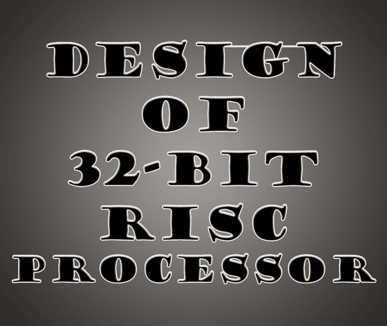Design Of 32 Bit Risc Processor 1 Alu Block Diagram