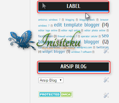 cara mudah edit judul sidebar pada blog