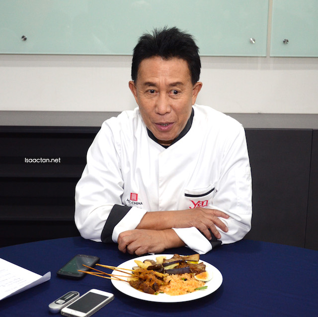 Martin Yan during the interview session with us