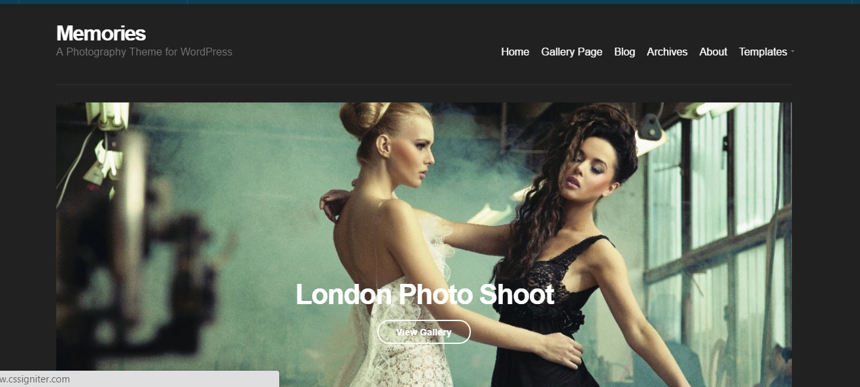 Memories-premium photography portfolio theme