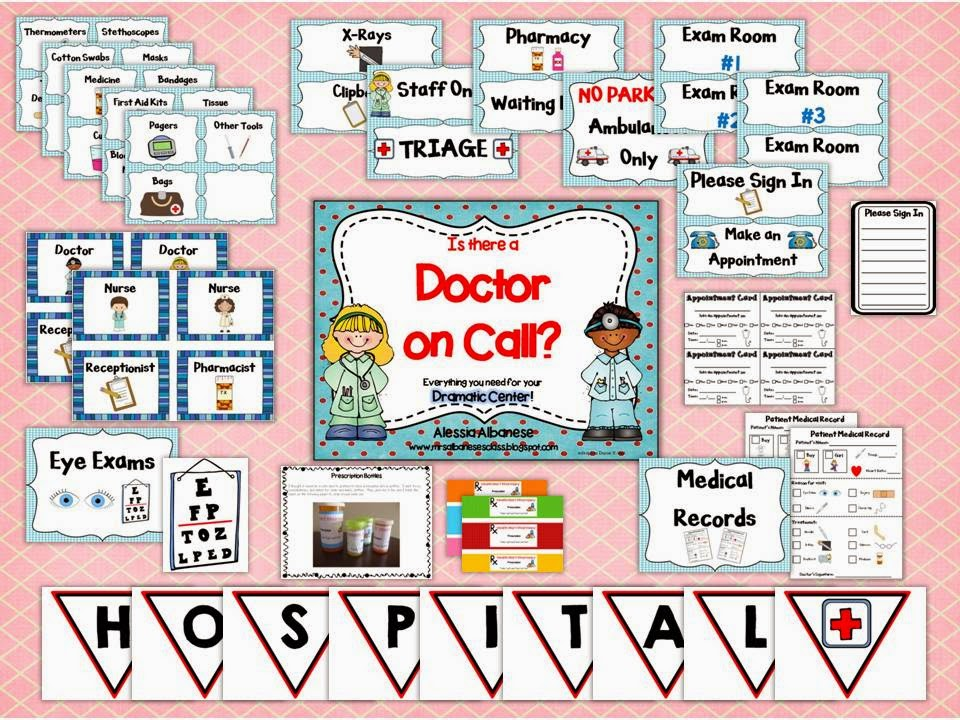 https://www.teacherspayteachers.com/Product/HospitalDoctors-Office-Dramatic-Play-Center-1247878
