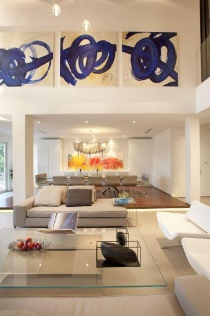 Construindo minha casa clean ambientes com p direito for Artwork for high ceilings