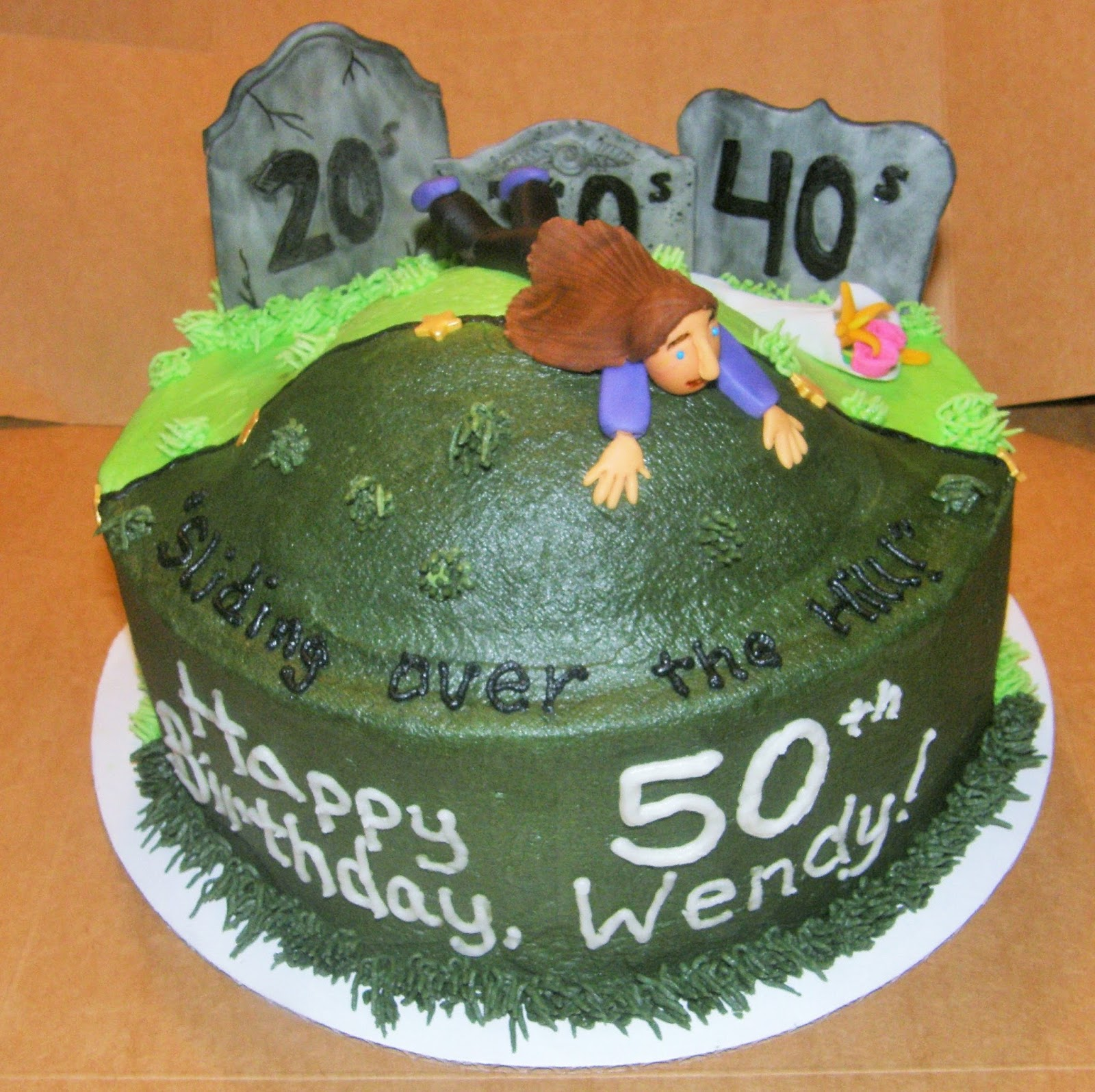 Mrs Lydias Kitchen Over The Hill 50th Birthday Cake