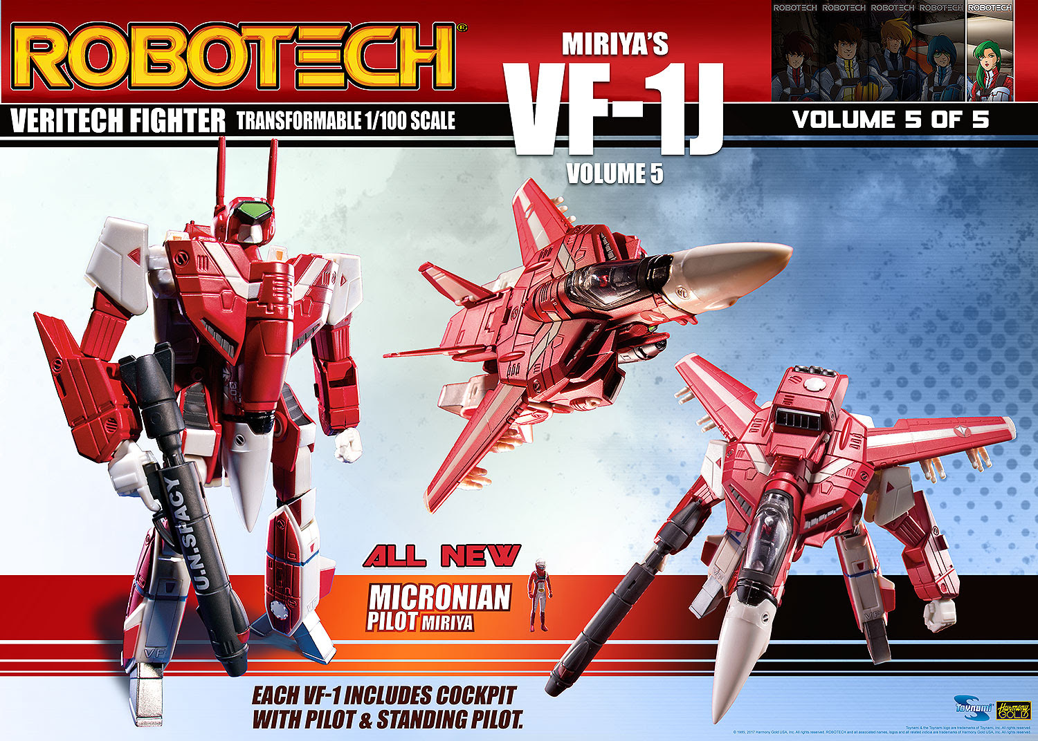 2b4a0e48b70e Robotech VF-1 Transformable Veritech Fighter Collection - MIRIYA STERLING  VOLUME 5 Pre-order