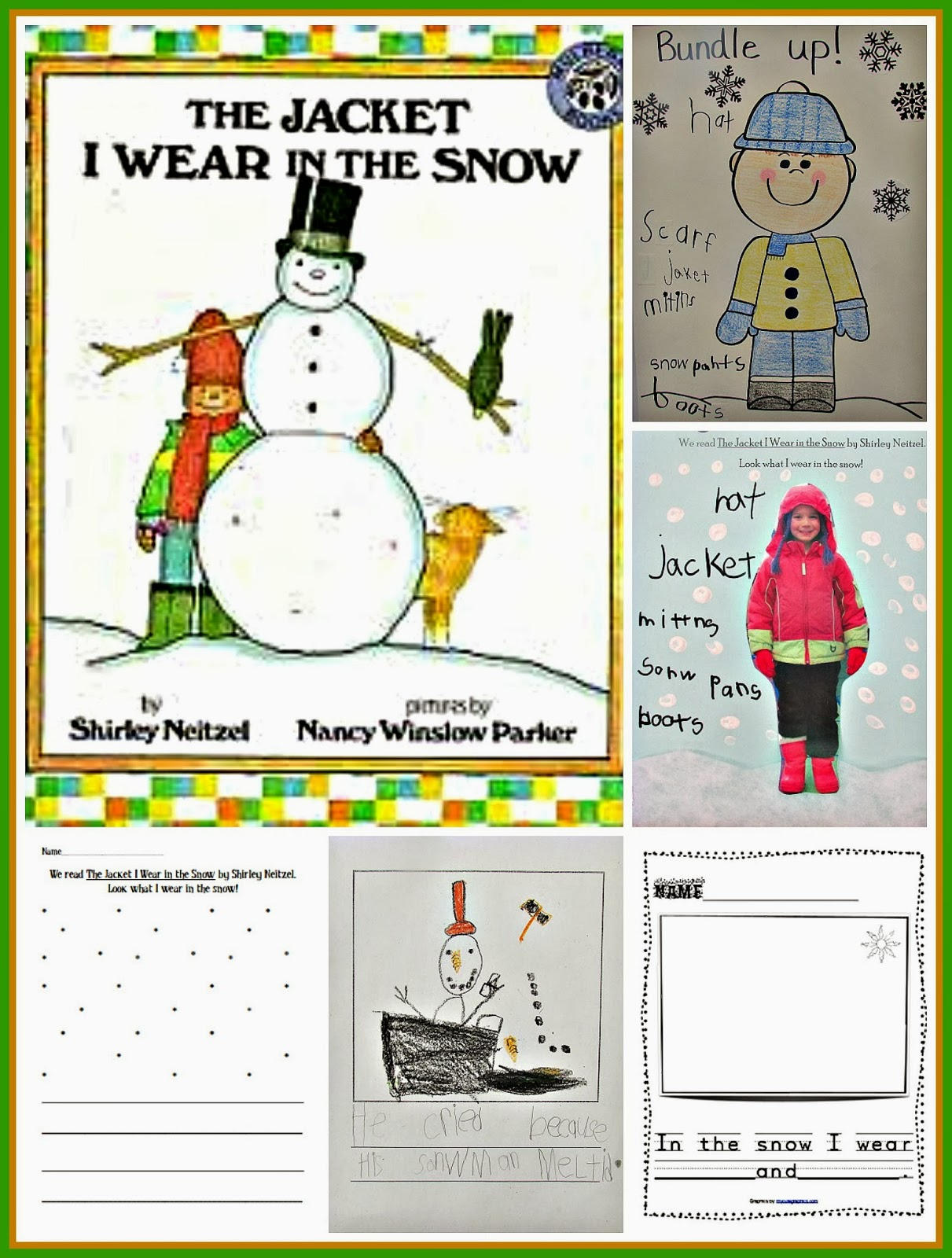 Lesson plans for the book the jacket i wear in the snow