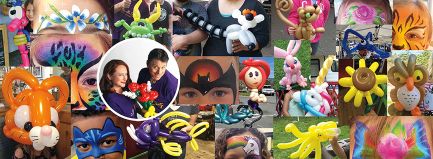 the best balloon twisters and best face painters in the Marin and NE Ohio