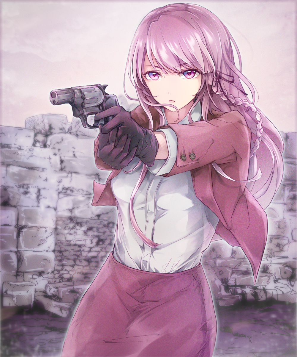 kirigiri with a gun