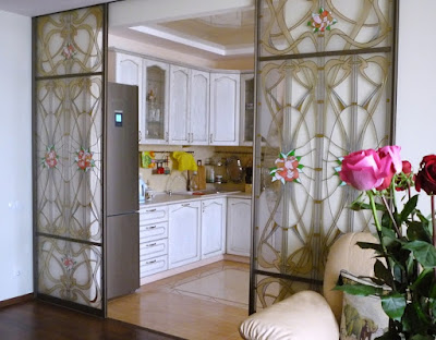 modern living room kitchen design ideas with room divider partition wall 2019