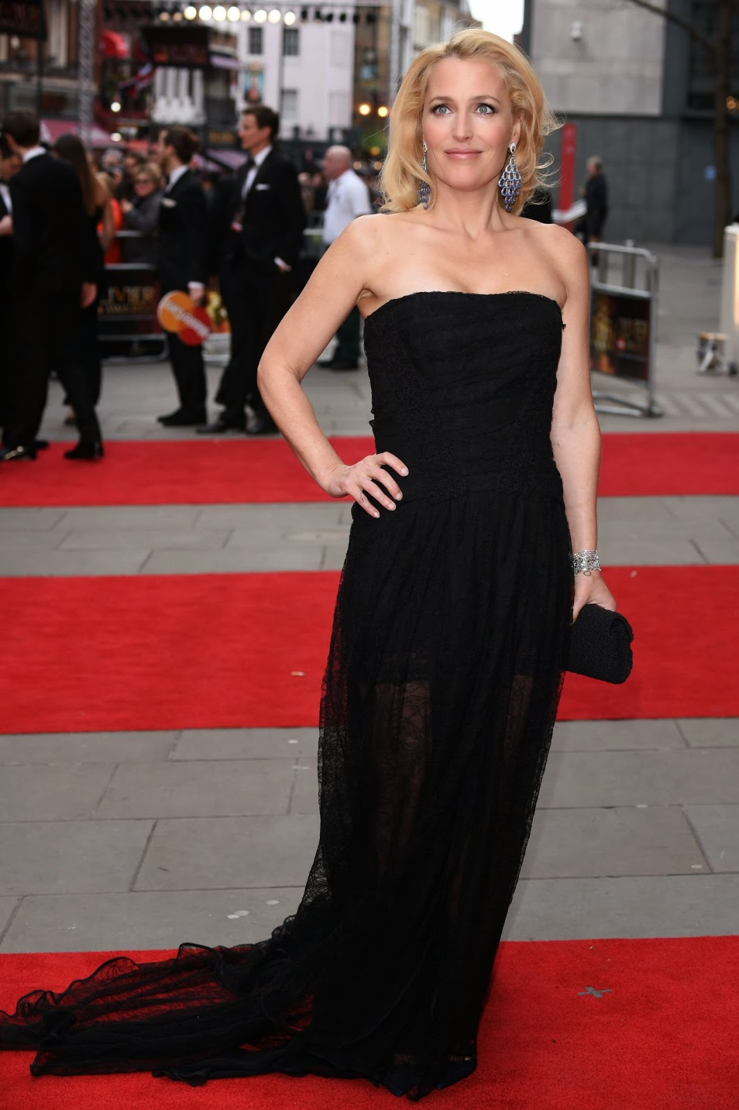 Gillian Anderson – The Olivier Awards 2015 in London