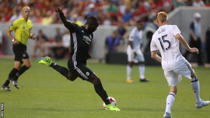 Romelu Lukaku scores first Man Utd goal in friendly against Real Salt Lake