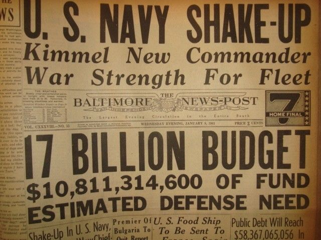 8 January 1941 worldwartwo.filminspector.com Baltimore News-Post headlines