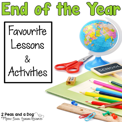 Eleven teacher bloggers have shared their thoughts on their favourite end of the year lessons, assignments and units that they LOVE teaching at this time of year from the 2 Peas and a Dog blog.