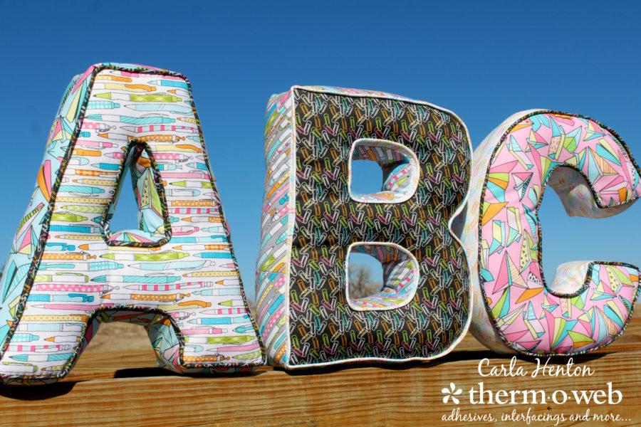 creatin in the sticks alphabet letter pillows for spring quilt market