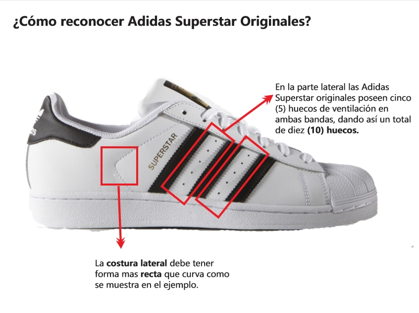 adidas superstar originales como saber