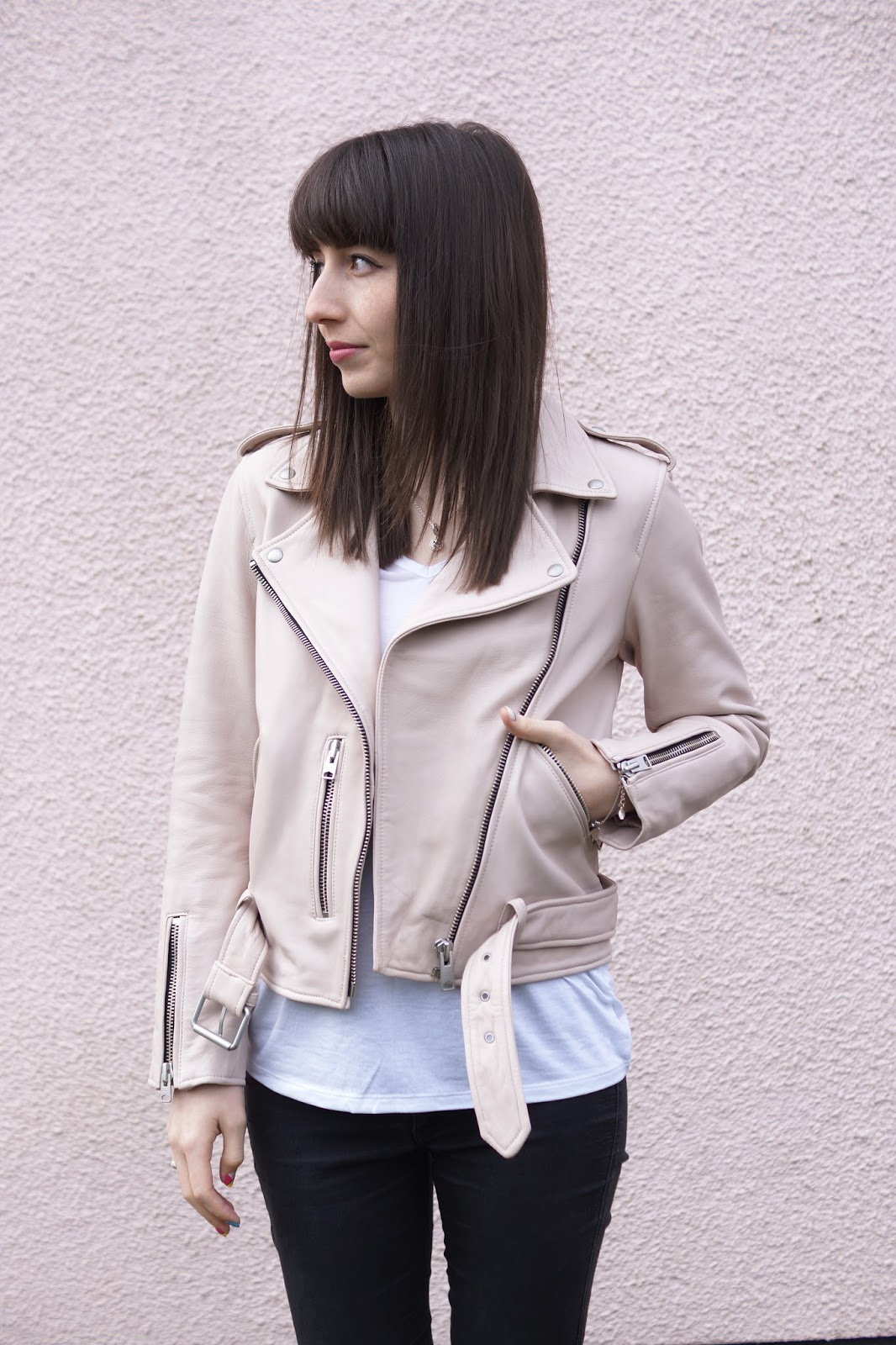 Hello Freckles About The Author Behind The Blog All Saints Balfern Biker Jacket