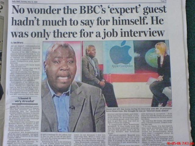 Buscaba empleo, pero fue entrevistado en estudio de la BBC