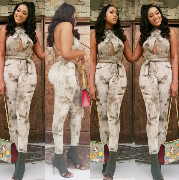 Rukky Sanda flaunts curves in beautiful jumpsuit