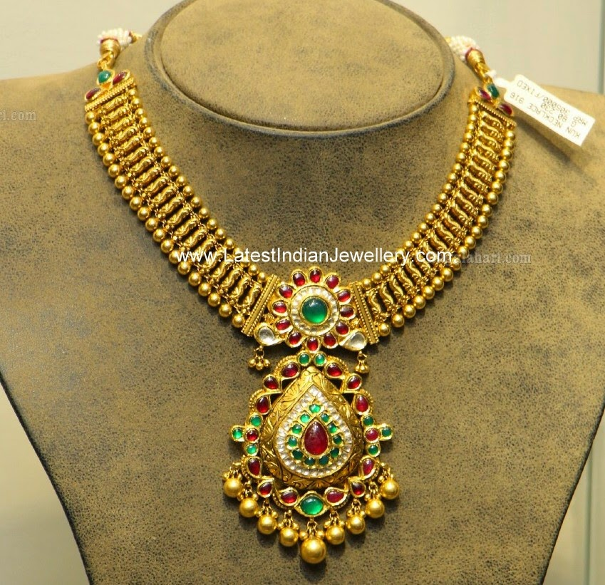 Hiya S Antique Gold Necklace Latest Indian Jewellery Designs